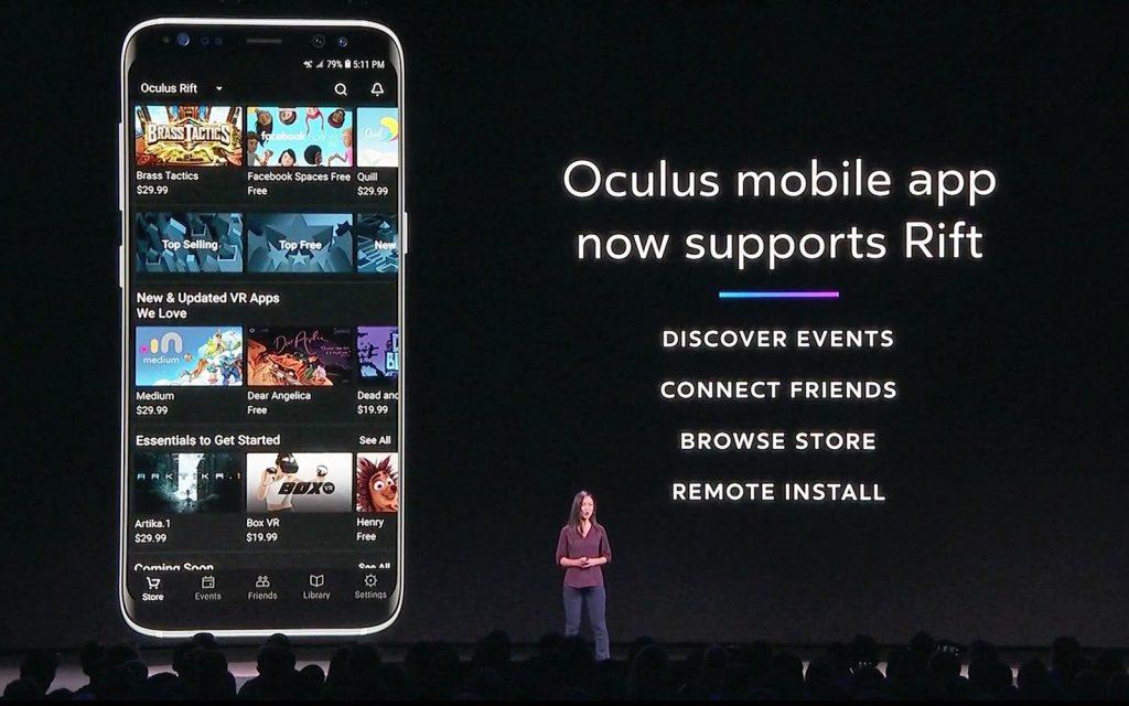 Aplikace Oculus pro Android